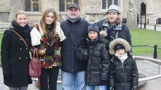 Phil Collins celebrates his 60th birthday at the Tower of London with all of his children (L-R): Joely, Lily, Nicholas, Simon and Matthew