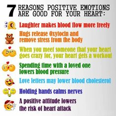 7 Reason positive emotions are good for your heart:
