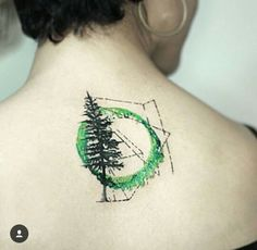 tree, green, ring, back, creative, tatoo