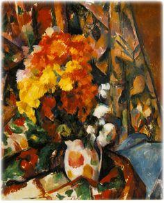Cezanne, Paul    Chrysanthemums (Vase fleuri)    1896-1898 (Rewald); c.1900    Oil on canvas    27 1/2 x 22 3/4 in. (70 x 57.8 cm.)    The Barnes Foundation, Merion, Pennsylvania