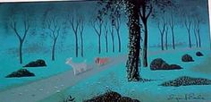 Eyvind Earle Concept Painting of Lady and Tramp