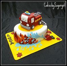 cake firetruck, firetruck cake, boys firetruck party, cake idea, fire trucks, firetruck birthday cake, parti, kid, birthday cakes