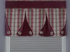 Sewing Curtains Box pleat button-back valance Window Cornices, Valance Window Treatments, Kitchen Window Treatments, Custom Window Treatments, Window Coverings, No Sew Curtains, Home Curtains, Valance Curtains, Valance Ideas