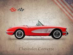 Chevrolet Corvette Art Print by Mark Rogan. All prints are professionally printed, packaged, and shipped within 3 - 4 business days. Blue Bird Art, Gifts For Photographers, Ferrari, American Muscle Cars, Sexy Cars, Chevrolet Corvette, Old Cars, Cars And Motorcycles, Dream Cars