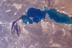 Apr 27  Small piece of Lake Balkhash in #Kazakhstan. @Space_Station #Explore   Tim Kopra (@astro_tim) | Twitter