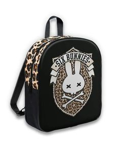 Six Bunnies Back Pack Lynx.Oldschool,Tattoo,Biker,Pin up,Custom Style Rockabilly Shop, Rockabilly Baby, Little Backpacks, Kids Backpacks, Pinup, Shops, Oldschool, Vintage Inspired Outfits, Riding Gear