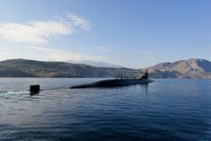 SOUDA BAY, Greece (Nov. 5, 2014) The Ohio-class guided-missile submarine USS Florida (SSGN 728) enters Souda Bay during a scheduled port visit. Florida, homeported in Kings Bay, Ga., is conducting naval operations with allies in the U.S. 6th Fleet area of responsibility to advance security and stability in Europe. (U.S. Navy photo by Mass Communication Specialist 2nd Class Jeffrey M. Richardson/Released)