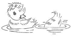 ducklings - embroidery pattern