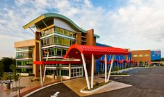 Series 300 S-curved metal roof from IMETCO on Norton Health Systems Korsair Children's Medical Center