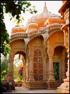 Mandore Gardens- intricate ancient Indian architecture, Rajasthan - India