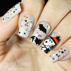 Snoopy over Glam Polish Snoopy The Witch