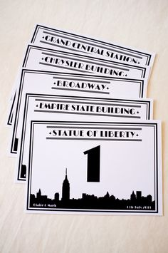 New York City Skyline / Any City Skyline Wedding by JANDOdesign, €3.50 ($4.91). Great for a city themed wedding at The Broadway!