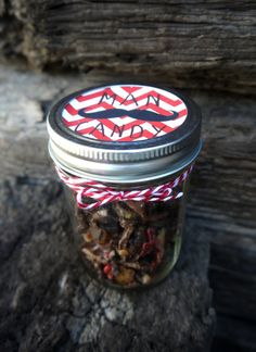 Man Candy Jar of Chocolate Covered Candied Bacon Mustache Gifts Edible Mustachen Manly Gift Fathers Day Valentines Day