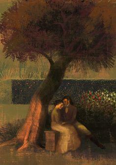 "Illustration from ""Eugene Onegin"" (Alexander Pushkin, illus. by Anna & Elena Balbusso)."