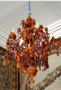 Amber chandelier. Rosenborg Slot, Copenhagen.