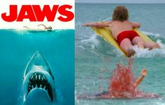 Jaws Scene where character Alex Kintner paddles out into the water and scene where he meets his fate. Jaws 4, Jaws Movie, Perfect Movie, One Summer, Steven Spielberg, Great White Shark, Paddles, Classic Films, Sharks