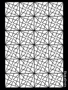 Geometry of Triangles  - You may want to break the center cross of each square unit into 2 or 4 triangles for easier cutting.  I created this with the wonderful iPad app Concepts.