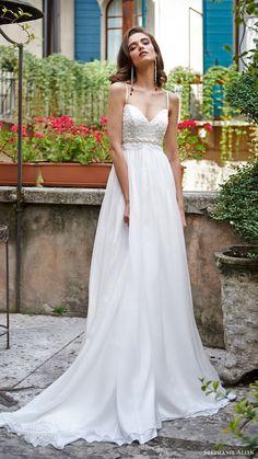 stephanie allin bridal 2017 sleeveless sweetheart aline wedding dress (flavia) mv