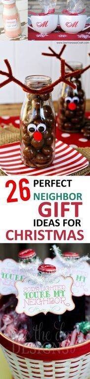 26 Perfect Neighbor Gift Ideas for Christmas - Diy christmas gifts Christmas Gifts To Make, Christmas Goodies, Christmas Treats, Winter Christmas, Christmas Projects, Christmas Holidays, Christmas Decorations, Christmas Neighbor, Kids Holidays