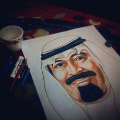 King abdallah #portait #drawing #pencil