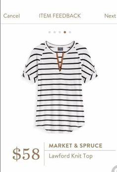 I like the stripes and the neckline.