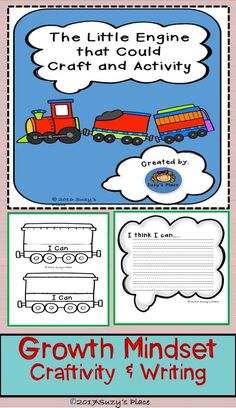 Teaching growth mindset is easy when paired with this timeless children's book activity! Not only will your students engage their fine motor skills, they will brainstorm and set goals for the year. Elementary Teacher, Elementary Schools, School Classroom, Classroom Ideas, Primary Classroom, Classroom Resources, Classroom Organization, Teacher Resources, Little Engine That Could
