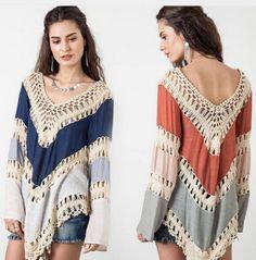 ergahandmade: Tunic a Knit and Fabric Combination + Free Pattern