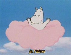 Imagem de moomin, pink, and clouds Ghibli, Illustrations, Illustration Art, Retro, Anime Gifs, Moomin Valley, Tove Jansson, Cartoon Profile Pictures, Film D'animation