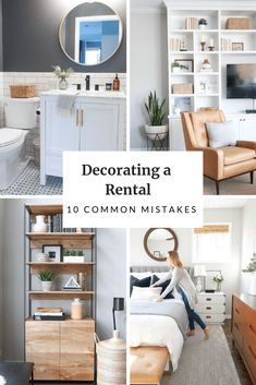 10 common decorating mistakes when living in a rental. Come see if you're making these big no-no's and find the solutions to decorate your apartment even though it's a temporary spot! Lots of rental decorating tips and tricks in this post! Apartment Decorating On A Budget, Design Apartment, Rental Decorating, Apartment Ideas, Decorating Small Apartments, Decorating Tips, Apartment Interior, Apartment Layout, Decorating Kitchen