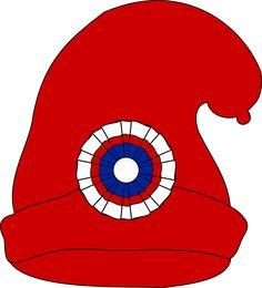 Bonnet phrygien by @cyrille, Dessin réalisé en m'inspirant des dessins suivants :https://commons.wikimedia.org/wiki/File:Bonnet_Phrygien.pnghttps://commons.wikimedia.org/wiki/File:Cocarde_tricolore.svg de Durero, on @openclipart