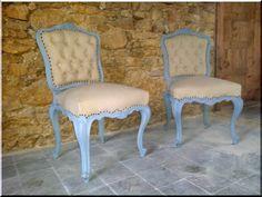 Szék, neobarokk - Antik bútor, egyedi natúr fa és loft designbútor, kerti fa termékek, akácfa oszlop, akác rönk, deszka, palló Industrial Loft, Country Chic, Vintage Designs, Dining Chairs, Shabby Chic, Modern, Furniture, Home Decor, Diy