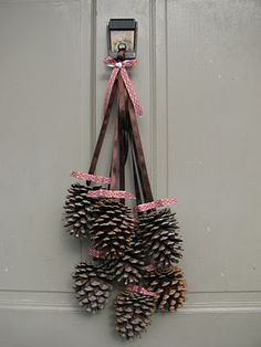 Finished Friday: DIY Pine Cone Door Decor