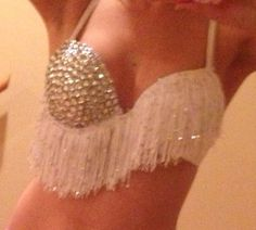 Ice crystal rave bra for EDC or festivals