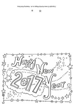 2017 Colouring Card