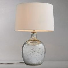 Buy John Lewis Tabitha Distressed Mirror Table Lamp | John Lewis