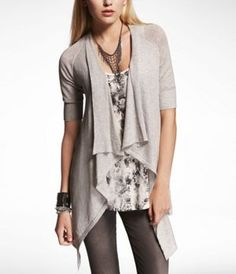 Cascading elbow sleeve sweater