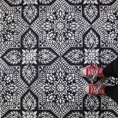 Alhambra Tile Allover Stencil