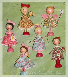 I listed a few dolls at Etsy today. More in the works. Click here to visit my little shop to see what's available!
