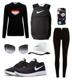 """Gym 4"" by mmarte0910 on Polyvore featuring Bella Freud, River Island, NIKE, Nikki Strange and Dolce&Gabbana"