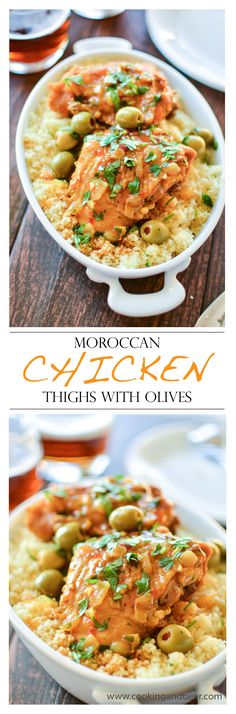 Moroccan Chicken Thighs with Olives | www.cookingandbeer.com | @jalanesulia