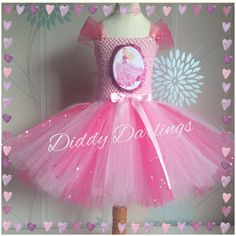 Barbie Tutu Dress Sparkly Barbie Dress Costume Party Barbie Pink Dress Birthday