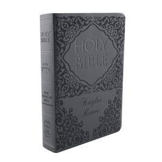 Personalized Damask Bible - Black