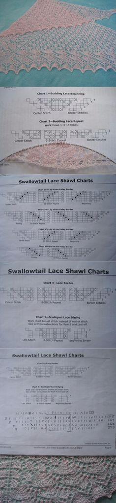 Swallowtail Lace Shawl (有翻译说明) - 晏夕的日志 - 网易博客