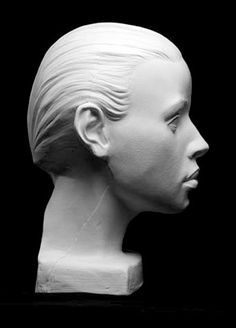 Figure Drawing Female Female Planes Head Artist's Reference Cast by maribel Sculpture Head, Plaster Sculpture, Head Anatomy, Anatomy Art, Planes Of The Face, Drawing Heads, Face Structure, Face Profile, Human Figure Drawing