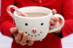 Cozy Christmas coffee mugs.