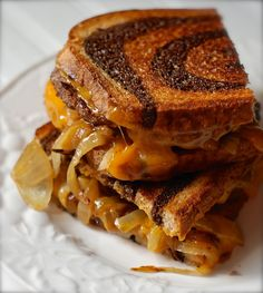 Patty Melt Sandwich with Caramelized Onions