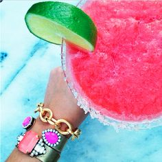 Blended drinks and and arm party. My kind of summer.