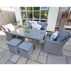 Amazing Saigon Heritage Lowback Lounge Dining Set, Perfect For Outdoor Dining Or  Relaxing. Designer Outdoor