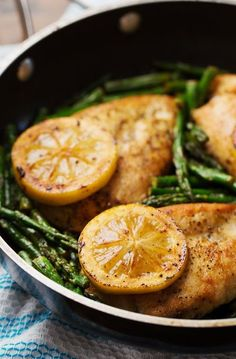 5 Ingredient Lemon Chicken with Asparagus #grilled #chicken #healthy