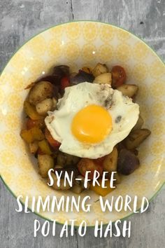 Syn free slimming world potato hash recipe - a lovely tasty and warming Slimming World Vegetarian Breakfast or lunch ideas Slimming World Lunch Ideas, Slimming World Vegetarian Recipes, Slimming World Breakfast, Syn Free Breakfast, Syn Free Food, Slimmimg World, Hash Recipe, Potato Hash, Vegetarian Breakfast